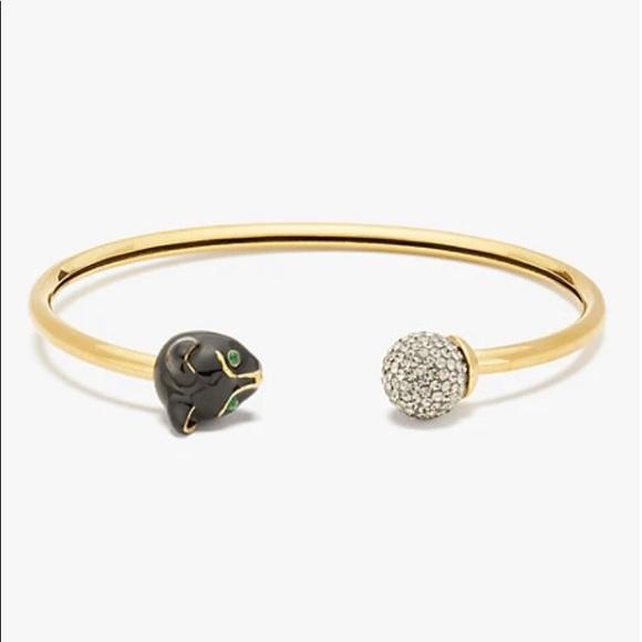 🆕 Kate Spade NY House Cat Flex Cuff Bracelet NWT